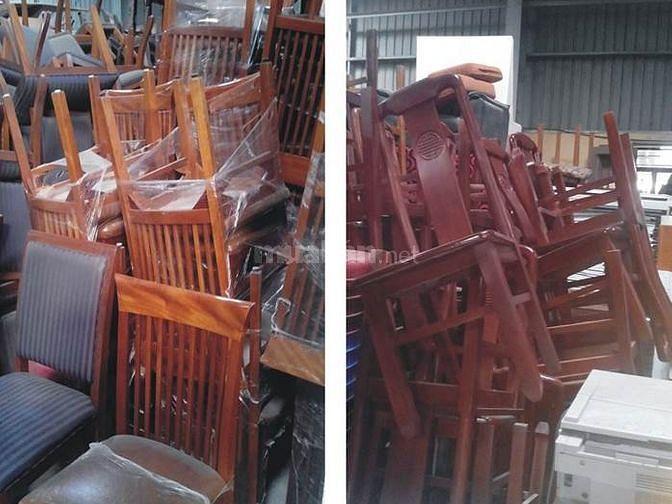 Đồ cũ Hồng Nhung 638 Long Biên Thanh lý đồ nhà hàng bàn ghế gỗ, sắt