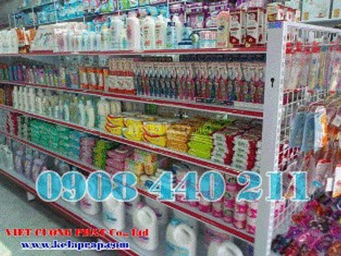 Giá kệ sắt, kệ showroom, kệ quần áo túi xách Việt Cường Phát (kelaprap