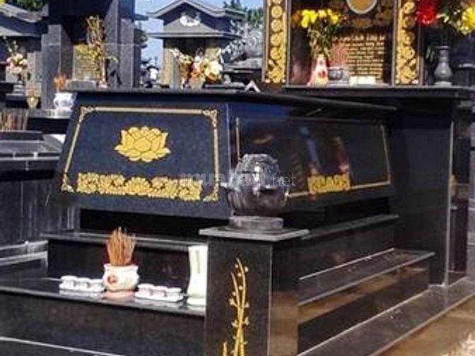 Khắc bia mộ búp sen kỳ lân đá để trụ mộ giá rẽ
