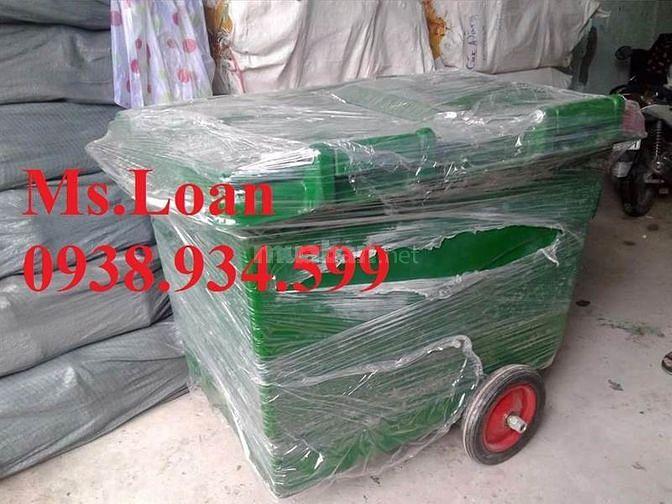 Chuyên cung cấp xe đẩy rác 660 lít,1000 lít với chất liệu nhựa HPDE