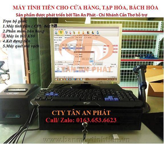 Bộ máy tính tiền cho shop mỹ phẩm tại Hà Tĩnh
