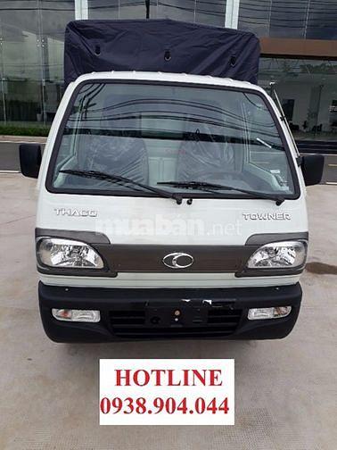 Thaco Thủ Đức bán xe tải nhỏ 900kg, thaco Towner 800, Thùng bạt có mui