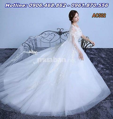 Áo cưới công chúa đẹp lung linh, mẫu áo cưới công chúa xinh 2018