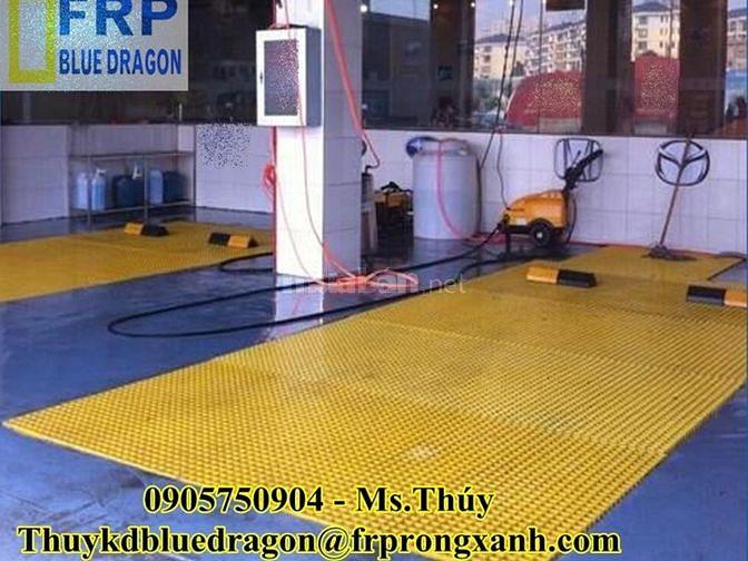 Lót sàn công nghiệp frp grating chịu hóa chất, không rỉ sét