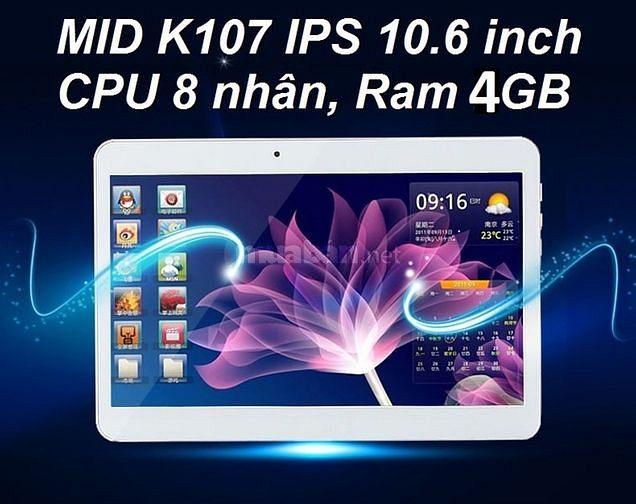 Máy tính bảng MID K107 LCD 10.6 inch, Ram 4GB, Sim 3G Android 7.0