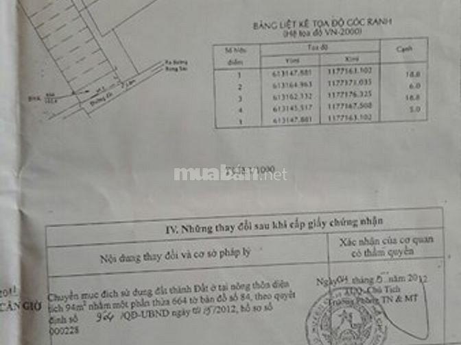 Bán đất 5x19m, HXH đường Rừng Sác, Bình Khánh, Cần Giờ