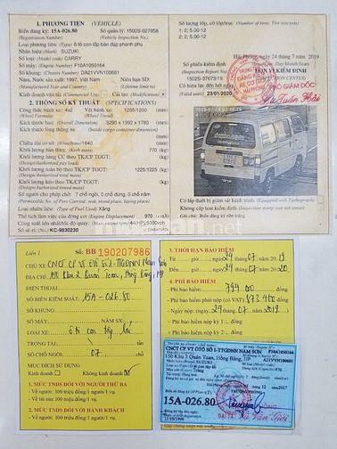 Bán xe tải Suzuki cóc đời 1997, giá chỉ 85 triệu
