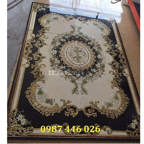 Gạch thảm phòng khách đen cổ điển