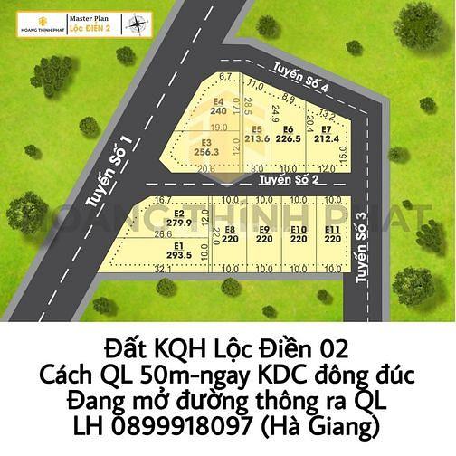 Đất NỀn Phú Lộc-Chỉ Cách QL50m-Dân Đông-Đường Rộng-Giá RẺ