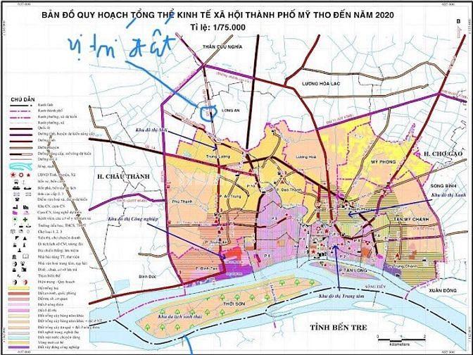 1,3 công đất ấp Long Thới, xã Long An, Châu Thành, Tiền Giang.