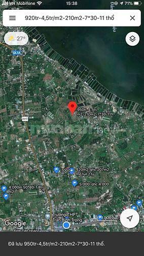 Bán lô đất thổ cư Cam Hải Tây chỉ 3,6tr/m2.