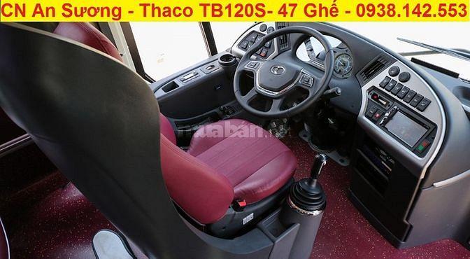Bán xe khách 47 chỗ Thaco Bluesky TB120S 6 bầu hơi, ABS,