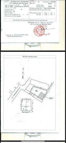 Bán gấp căn góc lầu 2 c/cư 94C Trần Khắc Chân, p9, Phú Nhuận.