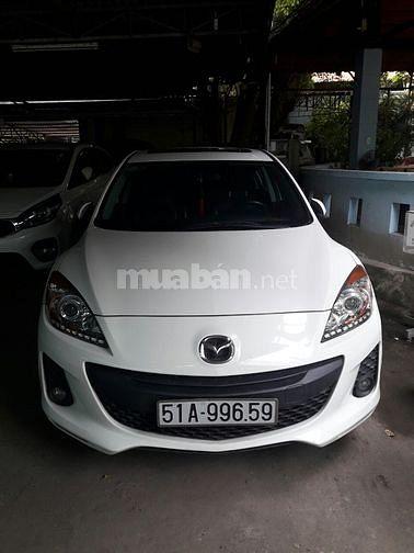 Bán xe Mazda 3S màu trắng, đời 2014, ráp trong nước, 60.000km
