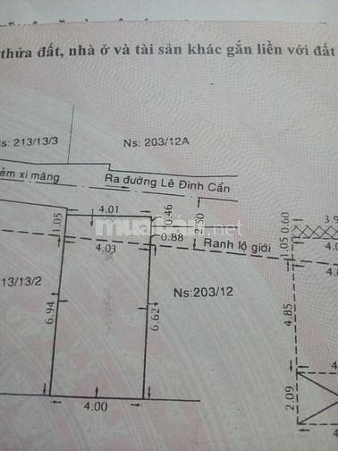 Bán nhà 203 đường lê đình cẩn F tân tạo Q bình tân