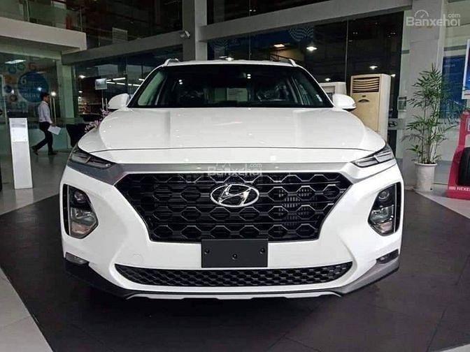 Hyundai Santa Fe 2019, khuyến mại cực cao, màu trắng