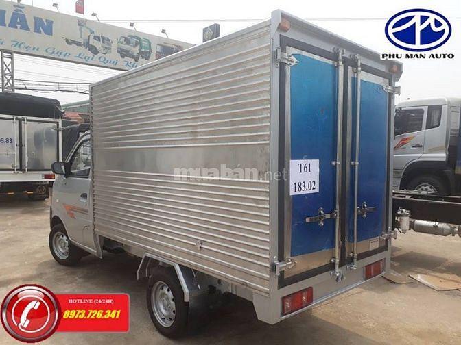 Xe tải nhẹ Dongben tải trọng 770kg thùng dài 2m4.