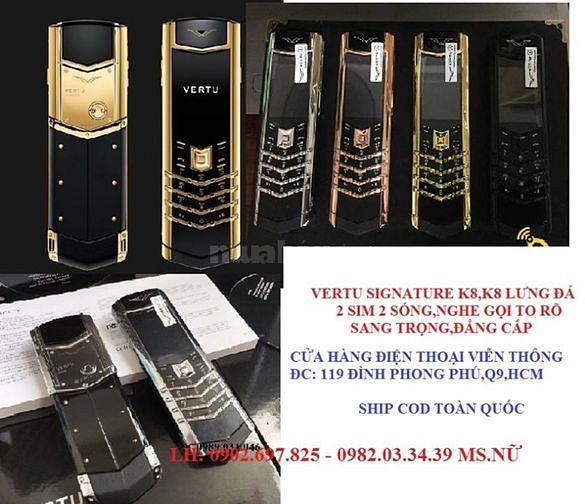 Điện thoại vertu k8 lưng đá giá rẻ hcm,q9,thủ đức,q2