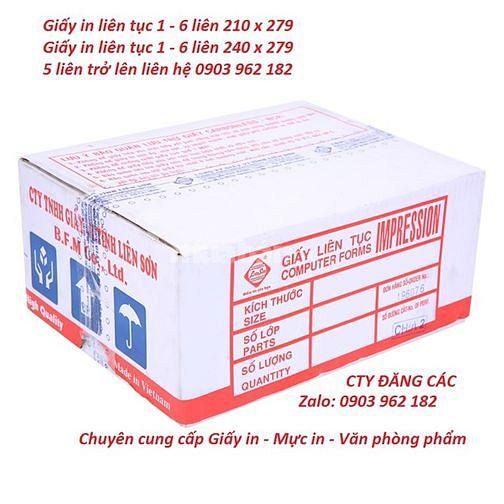 Giấy VTLT 5 Liên -Chuyên cung cấp Mực In - Giấy In - VPP