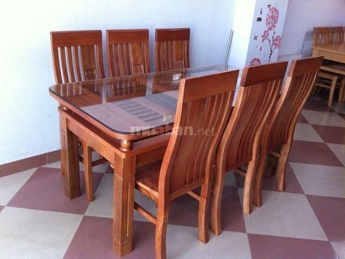 Thanh lý xả kho bộ bàn ăn gỗ xoan tự nhiên giá rẻ nhất Hà Nội