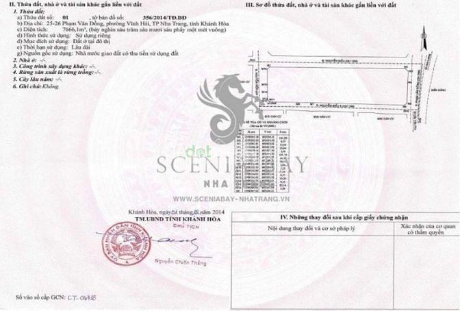 Cần vốn kinh doanh nên bán CH Scenia Bay Nha Trang, sở hữu lâu dài