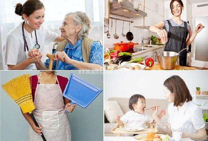 Gia Đình Cần 1 Người Chăm Bé 1 Người Giúp Việc Nhà 1 Người Chăm Bà Cụ