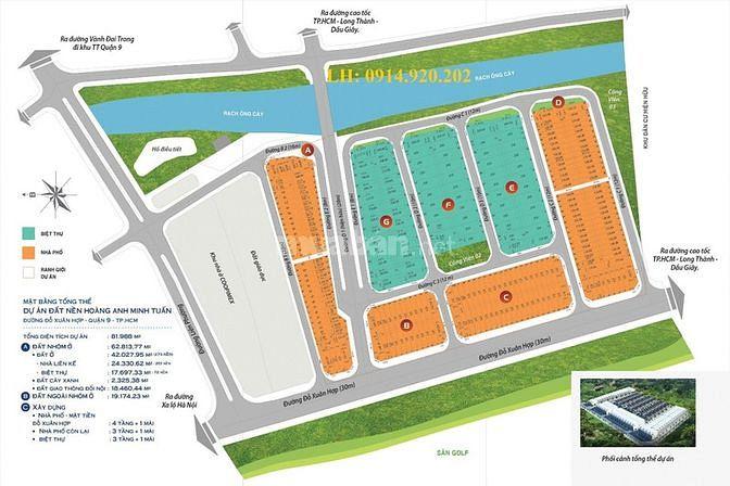 Cần bán nhanh và gấp đất nền Hoàng Anh Minh Tuấn Quận 9, giá 47 tr/m2