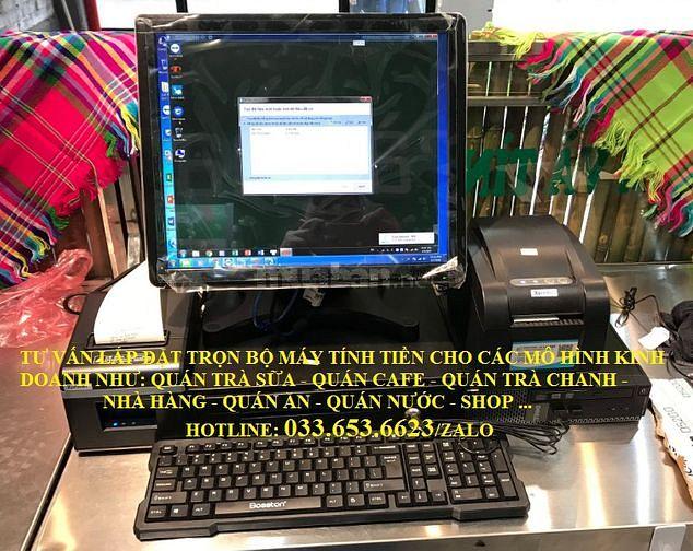 Lắp đặt máy tính tiền cho quán trà chanh tại Bình Thạnh