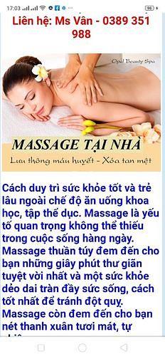 Massage Lành mạnh body & foot, trườm đá nóng, cạo gió giác hơi