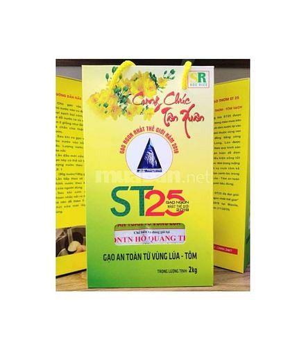 Gạo ST25 lúa tôm (hộp 2kg)- Gạo ST25 (Gạo Lúa Tôm) Chính Hãng