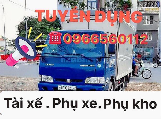 Bến Tre // cần nhân viên lái xe tải và phụ lơ xe. Phụ kho bốc xếp