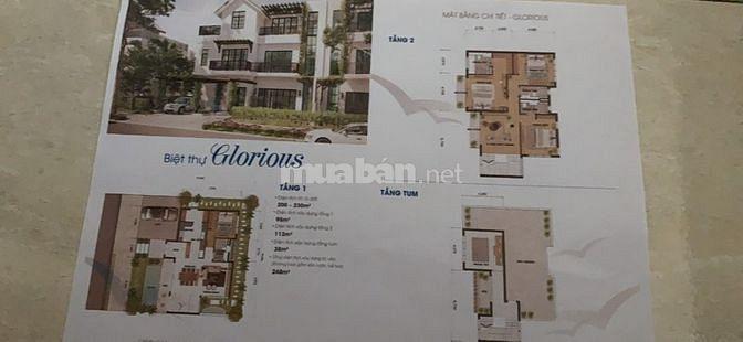 Bán shop villa2 trong khuôn viên Xanh Villa Thạch Thất, 220m2, 3 tầng